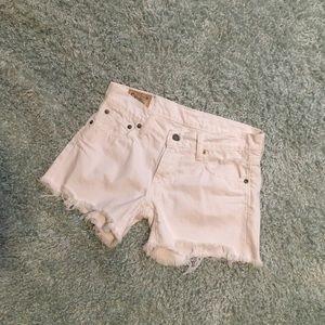 Ralph Lauren | Crosby Cutoff White Jean Shorts